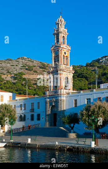 Griechenland, Symi, Kloster Panormitis - Stock Image