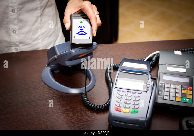 NFC - Near field communication / mobile payment - Stock Image