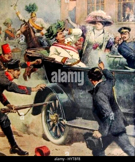 The assassination of Archduke Franz Ferdinand of Austria, and his wife Sophie, Duchess of Hohenberg, occurred on - Stock Image