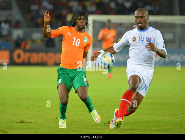 Bata, Equatorial Guinea. 4th Feb, 2015. Equitorial Guinea, African Cup of Nations football tournament semi-fnal - Stock Image
