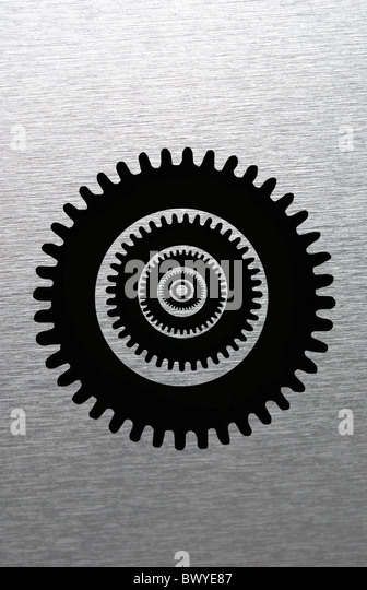 Cog wheels - Stock Image