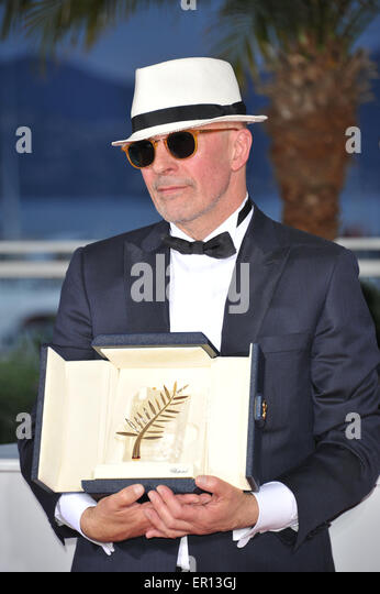 Cannes, France. 24th May, 2015. Jacques Audiard Palme D'or Best Film Awards, Photocall 68 Th Cannes Film Festival - Stock Image