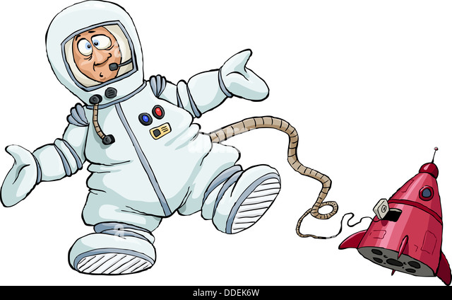 Astronaut space suit drawing