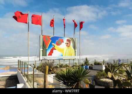 Morocco, Casablanca, Propaganda, King Mohamed VI - Stock Image