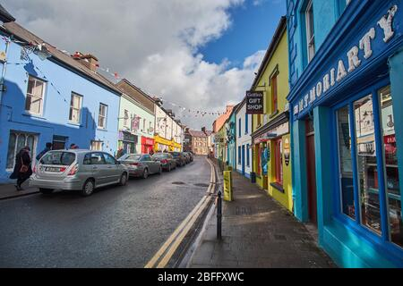 Streetview photographs of the Colorful Shops in Dingle Town in the Dingle Peninsula in the Republic of Ireland - Stock Image