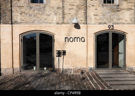Entrance to the old famous noma restaurant on Strandgade in Copenhagen, Denmark - Stock Image