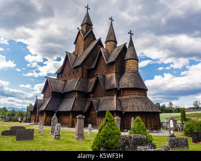 Heddal Stave Church, Notodden, Telemark, Norway - Stock Image