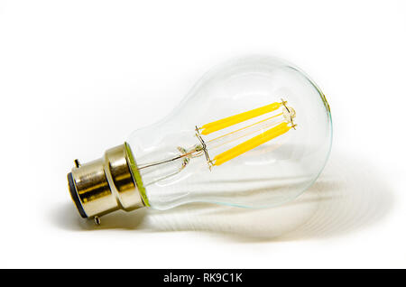 Light bulbs shot against a white background. - Stock Image