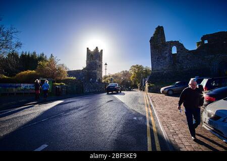 The Cong Abbey ruin in Cong, County Mayo, Connemara, Republic of Ireland - Stock Image