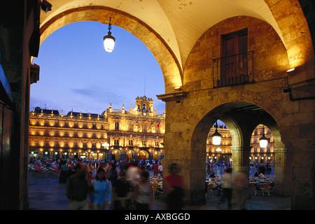 Plaza Mayor, Salamanca, Castilla Spain - Stock Image