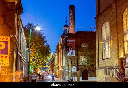 Brick Lane at Night London UK - Stock Image