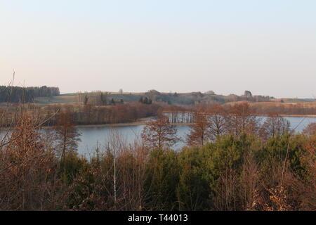 View of a lake at Podlasie, Poland - Stock Image