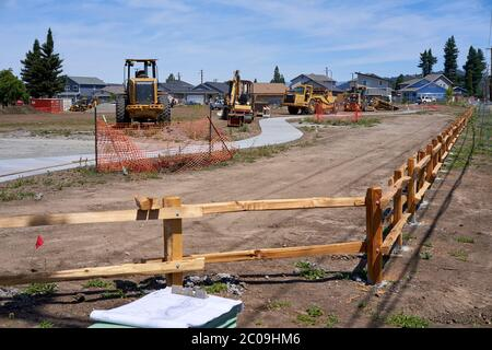 Rebuilding of Coffey Park in Santa Rosa, California, which was devastated by the Tubbs Fire in 2017. - Stock Image