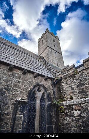 Exterior view of St. Nicholas Church, Adare, County Limerick, Ireland - Stock Image