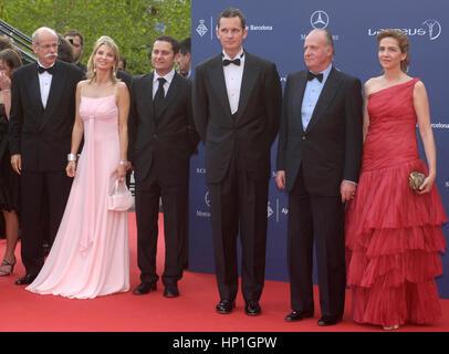 FILE Iñaki Urdangarin and Cristina de Borbon during Laureus awards 2006  pictured: Spain King Juan Carlos I - Stock Image