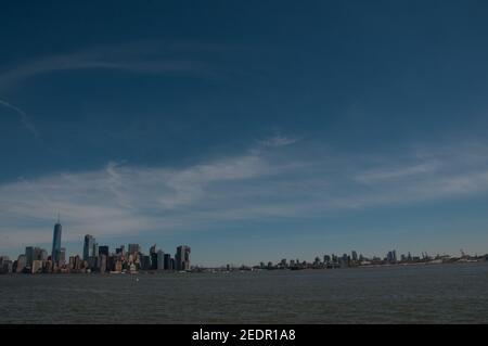 Manhattan skyline New york sunny day - Stock Image
