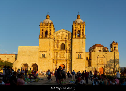 Church of Santo Domingo de Guzman, oaxaca, mexico - Stock Image