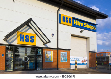 HSS Hire Shops. Tool Hire shop, Hereford, UK. - Stock Image