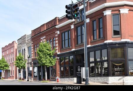 Main street small town USA - Stock Image