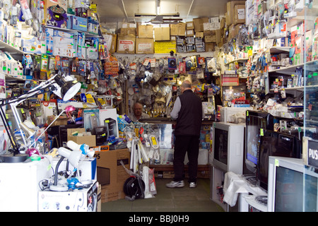 Abba electronics TV repair and home appliances shop, Kentish Town London - Stock Image