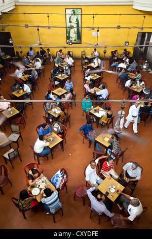 View into the Indian Coffee House in College Street in Kolkata, India - Stock Image