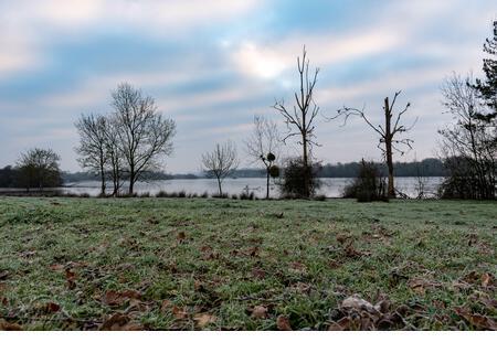 Winter frozen nature landscape - Stock Image