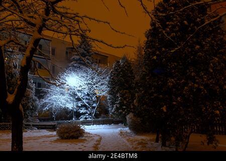 Winter, Block of flats - Stock Image