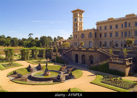 Osborne House East Cowes Isle of Wight England UK English Heritage JMH0825 - Stock Image