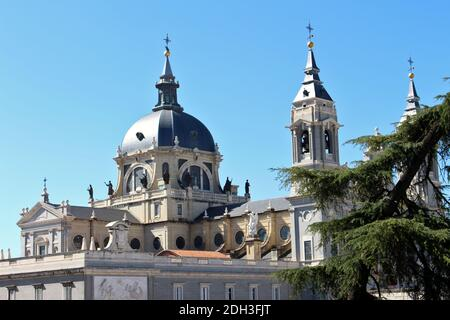 Almudena Cathedral, Madrid, Spain - Stock Image