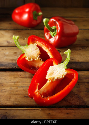 Red bell peppers photos, pictures & images - Stock Image