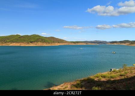 Santa Clara Dam (Barragem de Santa Clara), Portugal. - Stock Image