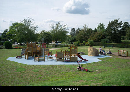 Salt Hill Park, Slough, Berkshire, UK - a playground for both young children and teenagers. The town is well served with green spaces and play areas. - Stock Image
