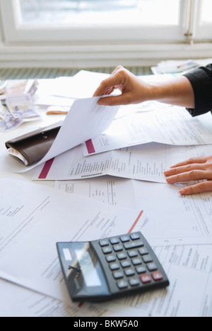 Paying the bills - Stock Image
