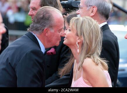 Barcelona, Spanien. 22nd May, 2006. King Juan Carlos and Corinna zu Sayn-Wittgenstein. Laureus Award 2006, Barcelona | usage worldwide Credit: dpa/Alamy Live News - Stock Image