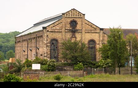 The 1906 listed power station building in Philadelphia, Houghton, Tyne and Wear, England, UK - Stock Image