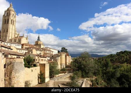 View from city walls in Segovia, Spain - Stock Image