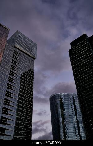 Sopra Steria headquarters, skyscrapers and office buildings in La Defense business district, Paris, France - Stock Image