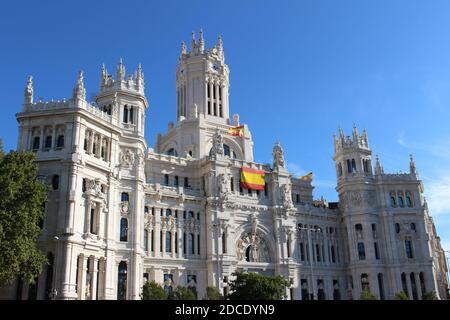 Madrid Palacio-de-Comunicaciones-Cibeles - Stock Image