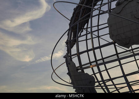 The Unisphere, Flushing Meadows–Corona Park, Queens, New York, USA. An iconic monument located in the Borough of - Stock Image