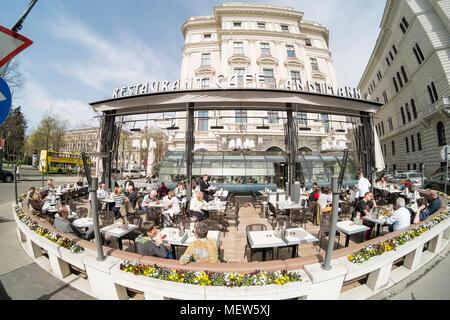 Café Landtmann, Universitätsring, Vienna, Austria - Stock Image