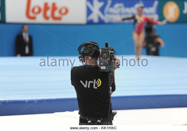 Antwerp, Belgium. 6th October, 2013. World Championships Gymnastics 2013  Individual apparatus finals. Womens floor. - Stock Image