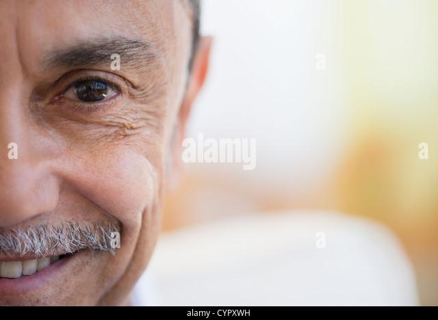 Smiling Hispanic man - Stock Image