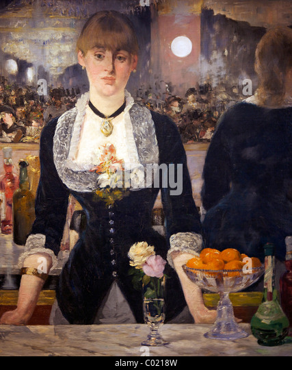 an analysis of the painting a bar at the folies bergre by manet