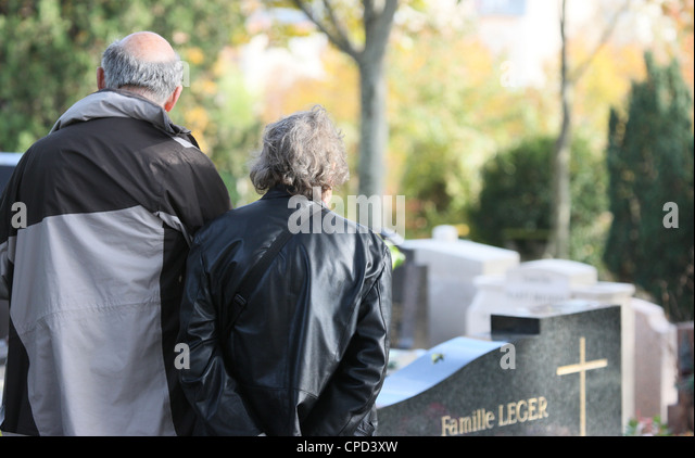 Pere Lachaise graveyard, Paris, France, Europe - Stock Image