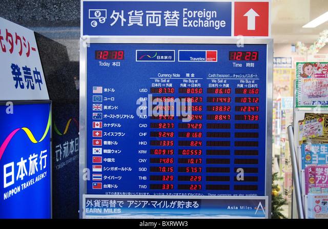 Currency change-kansai international airport