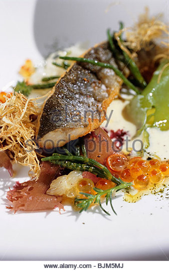 Japanese ayu fish with kombu (edible kelp) - Stock Image