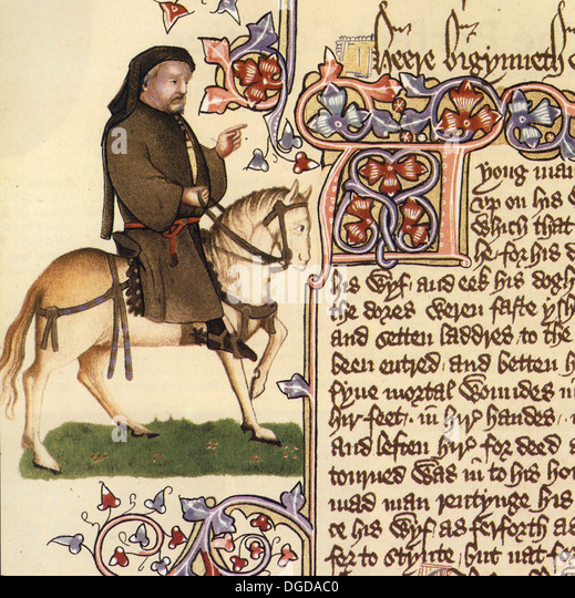 an analysis of an excerpt from geoffrey chaucers canterbury tales