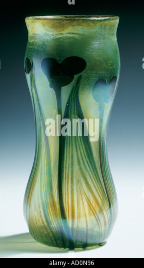 Vase by Louis Comfort Tiffany. America, 1896. - Stock Image