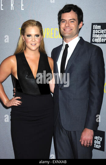 Amy Schumer and Bill Hader attending the 'Trainwreck' premiere at Alice Tully Hall on July 14, 2015 in New - Stock Image