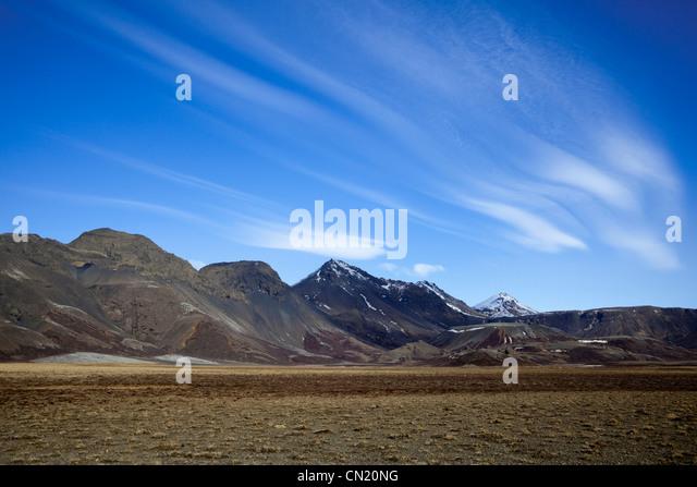 Iceland landscape - Thingvellir National Park - Stock Image